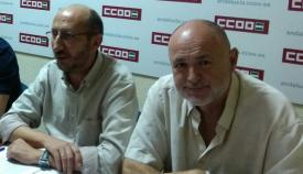 Responsables sindicales de CCOO en el Campo de Gibraltar