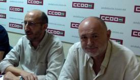 José Luis Maiztegui y Manuel Triano. Foto CCOO