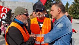 Juan Antonio Delgado, a la derecha, en imagen de archivo