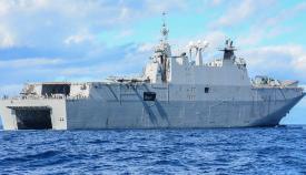 El 'Juan Carlos I', navegando. Foto Cuartel General de la Flota