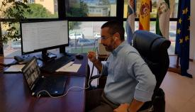 Juan Franco, en su despacho. Foto: NG