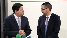 Picardo y Franco durante la visita de este último a Gibraltar en febrero de 2017. Foto InfoGibraltar