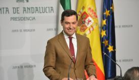 El presidente de la Junta de Andalucía, Juan Manuel Moreno Bonilla, en imagen de archivo