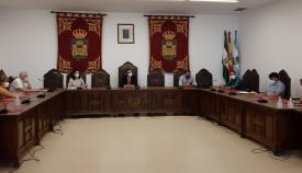 Un momento de la Junta de Gobierno celebrada esta mañana. Foto: lalínea.es