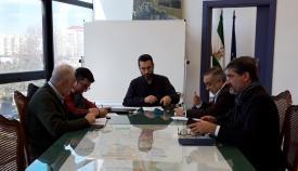 El alcalde de La Línea y los portavoces de los grupos de la oposicion