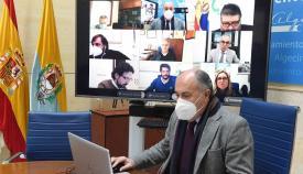 Landaluce y el resto de los portavoces analizan la situación de la pandemia