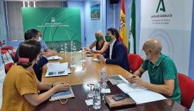 Un momento de la reunión celebrada en la Subdelegación de la Junta