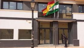 Fachada de los juzgados de La Línea ubicado en 'La Velada'