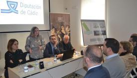 Irene García, presidenta de la Diputación, durante la presentación del proyecto