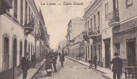 La Línea, postal antigua de la céntrica calle Clavel