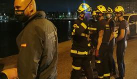 Actuación de los bomberos en La Línea. Foto CPB