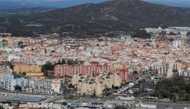 Una imagen de La Línea tomada desde Gibraltar. Foto: NG