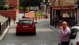 Una de las calles del centro de La Línea