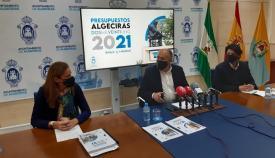 La presentación de los presupuestos, esta mañana en Algeciras. Foto: algeciras.es