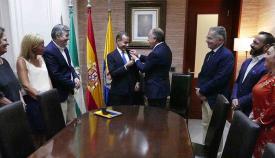 El alcalde de Algeciras y el embajador de Qatar