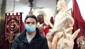 El escultor Lautaro Ortega
