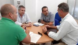 El concejal Manuel Abellán y responsables de Arcgisa
