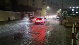 Calles inundadas en Gibraltar. Foto RGP