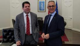 Fabian Picardo y Juan Lozano, en una reunión reciente entre ambos
