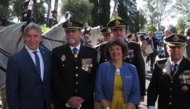 Lucrecio Fernández, a la izquierda de la imagen