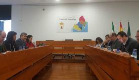 Imagen de la reunión celebrada en la sede de la Mancomunidad