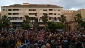 Aspecto de la Plaza Alta de Algeciras durante la concentración