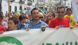 Manifestación contra la autovía en San Roque hace once años