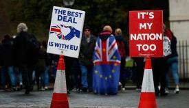 Manifestación contra el Brexit en una foto de archivo
