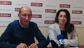 Manuel Triano e Inmaculada Ortega, de Comisiones Obreras