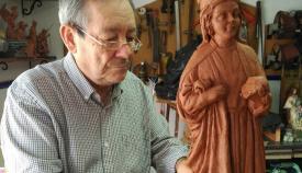 Manu Ortega en su taller