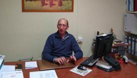 El sindicalista Manuel Triano, en su despacho