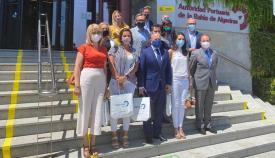 La comitiva de Vox en la Autoridad Portuaria de la Bahía de Algeciras