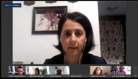 Marina García, portavoz del PP, en un pleno de 2020