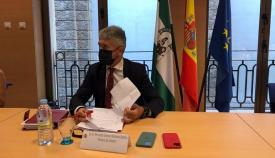El ministro Fernando grande-Marlaska, esta mañana en Cádiz
