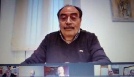 Captura de la intervención de Mayoral durante el pleno telemático