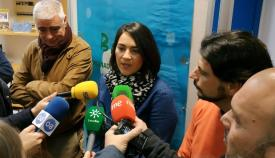 Mena y Martínez, esta mañana ante los medios tras su reunión