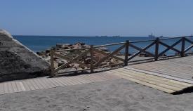 Zona en la que ha actuado la Delegación Municipal de Playas