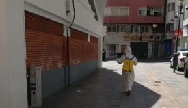 Ayuntamiento, UME e Infantería siguen con la desinfección en Algeciras