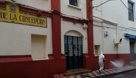 Una imagen reciente del exterior del Mercado Municipal de La Línea