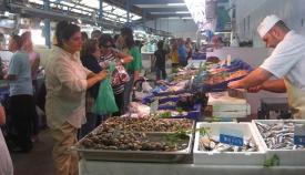 Uno de los puestos del Mercado Municipal, en imagen de archivo