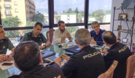Imagen de archivo de una reunión de la Mesa de Seguridad de La Línea