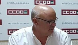 Miguel Alberto Díaz, secretario comarcal de la FSC CCOO en el Campo de Gibraltar.