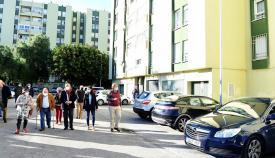 Landaluce visita Las Mimosas, recepcionada por el Ayuntamiento