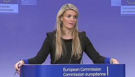 Mina Andreeva, portavoz de la Comisión Europea
