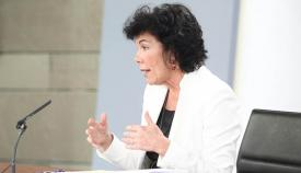 Ministra portavoz del Gobierno PSOE Isabel Celaá