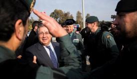 El ministro de Interior, Juan Ignacio Zoido, en una visita reciente a la comarca