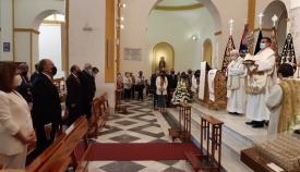 Imagen del acto litúrgico celebrado este mediodía en La Palma. Foto: Algeciras.es