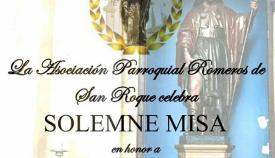 Cartel anunciado de la eucaristía . Foto MSR