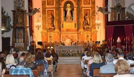 Un momento de la misa celebrada en San Roque