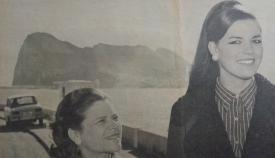 Miss España 1968 visita La Línea al año siguiente. María Amparo Rodrigo se había retirado del certamen de Miss Mundo, en Londres, por unas declaraciones de Miss Gibraltar